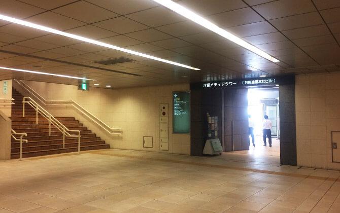 汐留駅ルート1